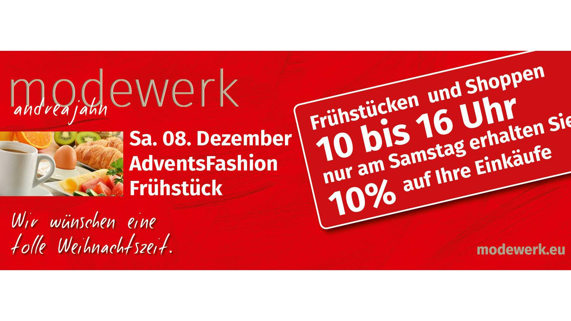 Modewerk | Andrea Jahn - AdventsFashion Frühstück