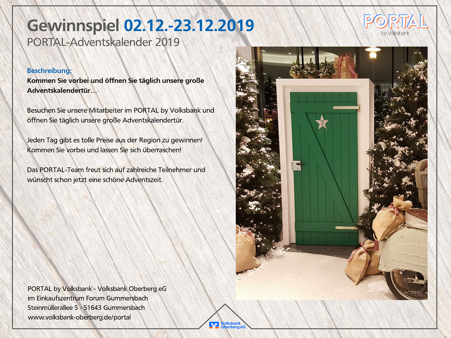 PORTAL by Volksbank | Adventskalender 2019
