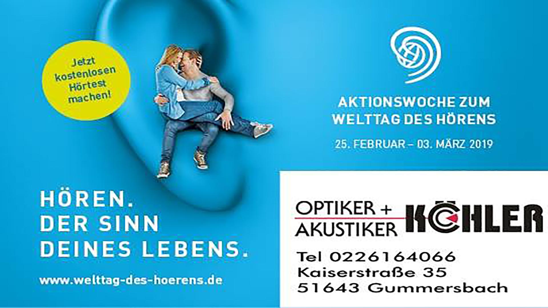 Optiker Köhler | Welttag des Hörens