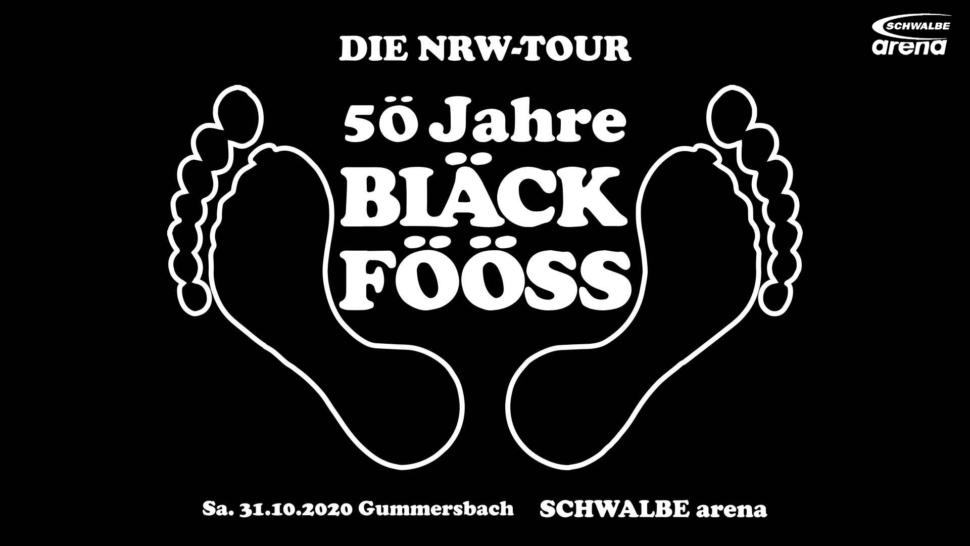 SCHWALBE arena | BLÄCK FÖÖSS - 5Ö Jahre / Die NRW-Tour