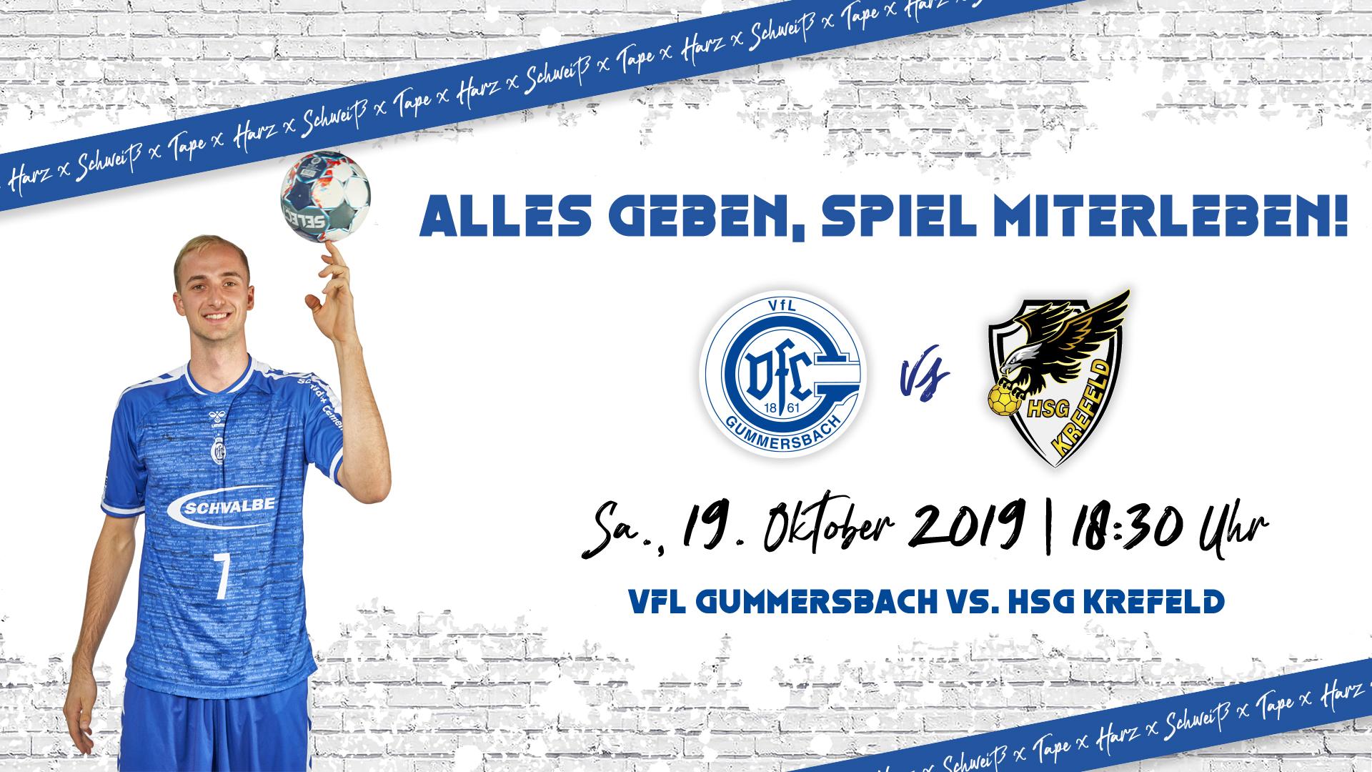 HEIMspiel | VfL Gummersbach - HSG Krefeld