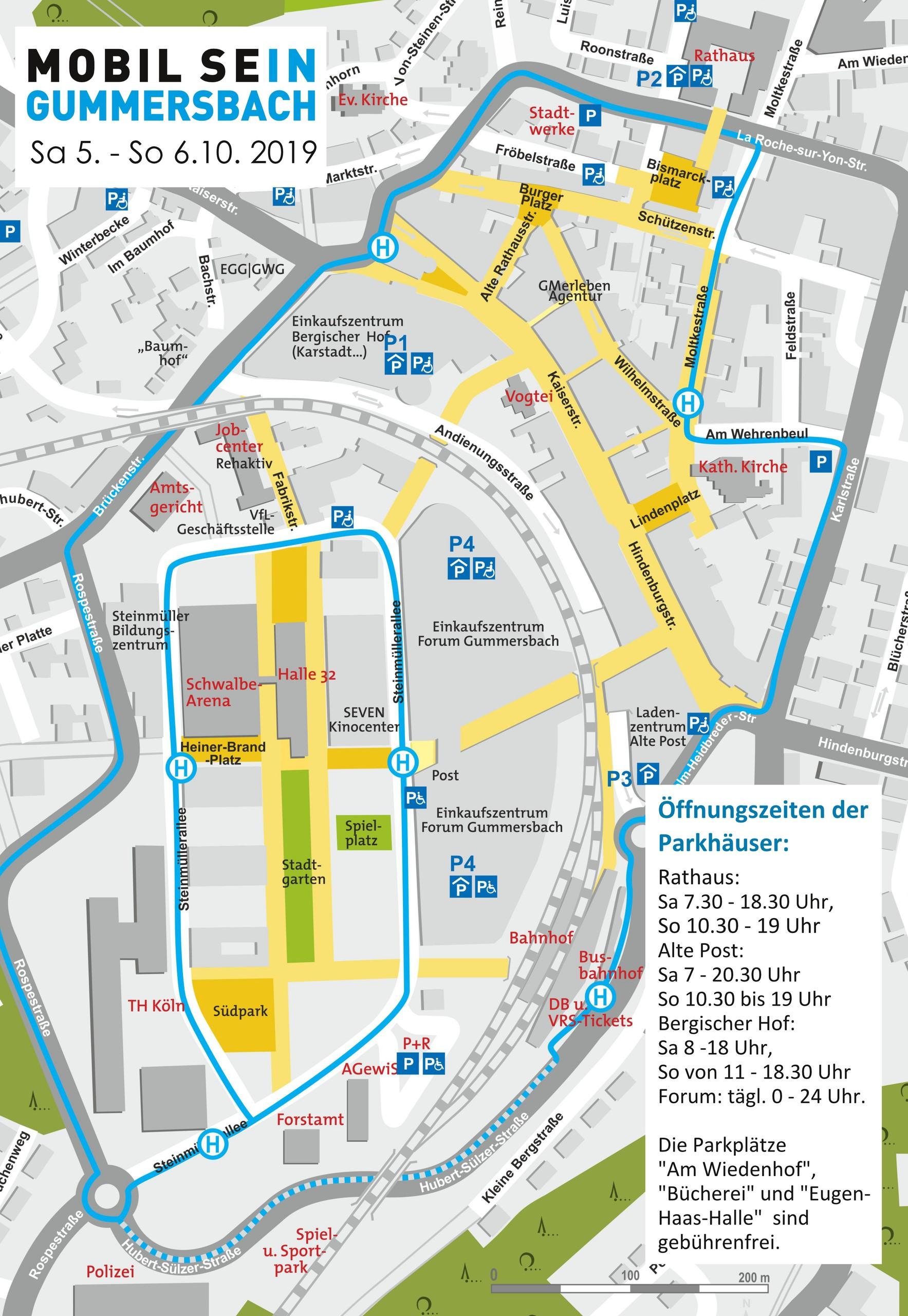 MOBIL SEIN Gummersbach 2019 Karte