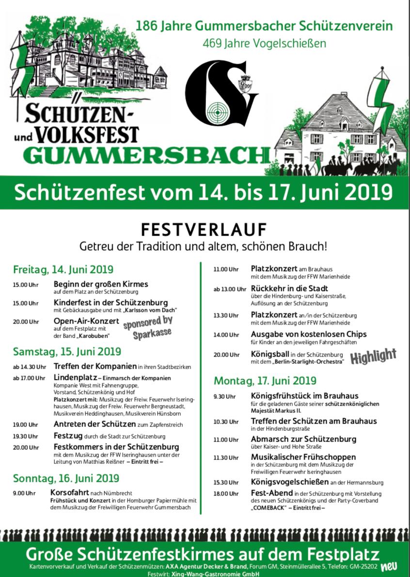 Gummersbacher Schützenfest 2019