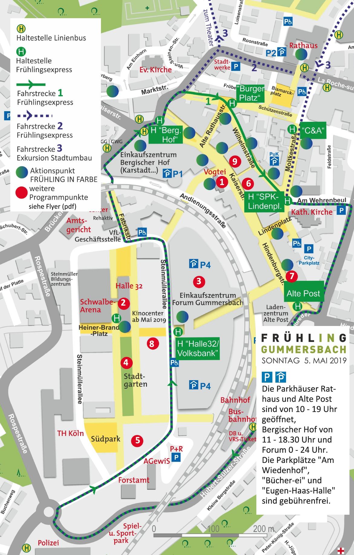 Frühling in Gummersbach 2019 Karte Aktionspunkte