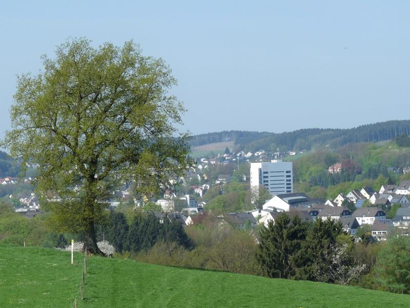 GMerleben Gummersbach Blick auf die Innenstadt ab Bernberg